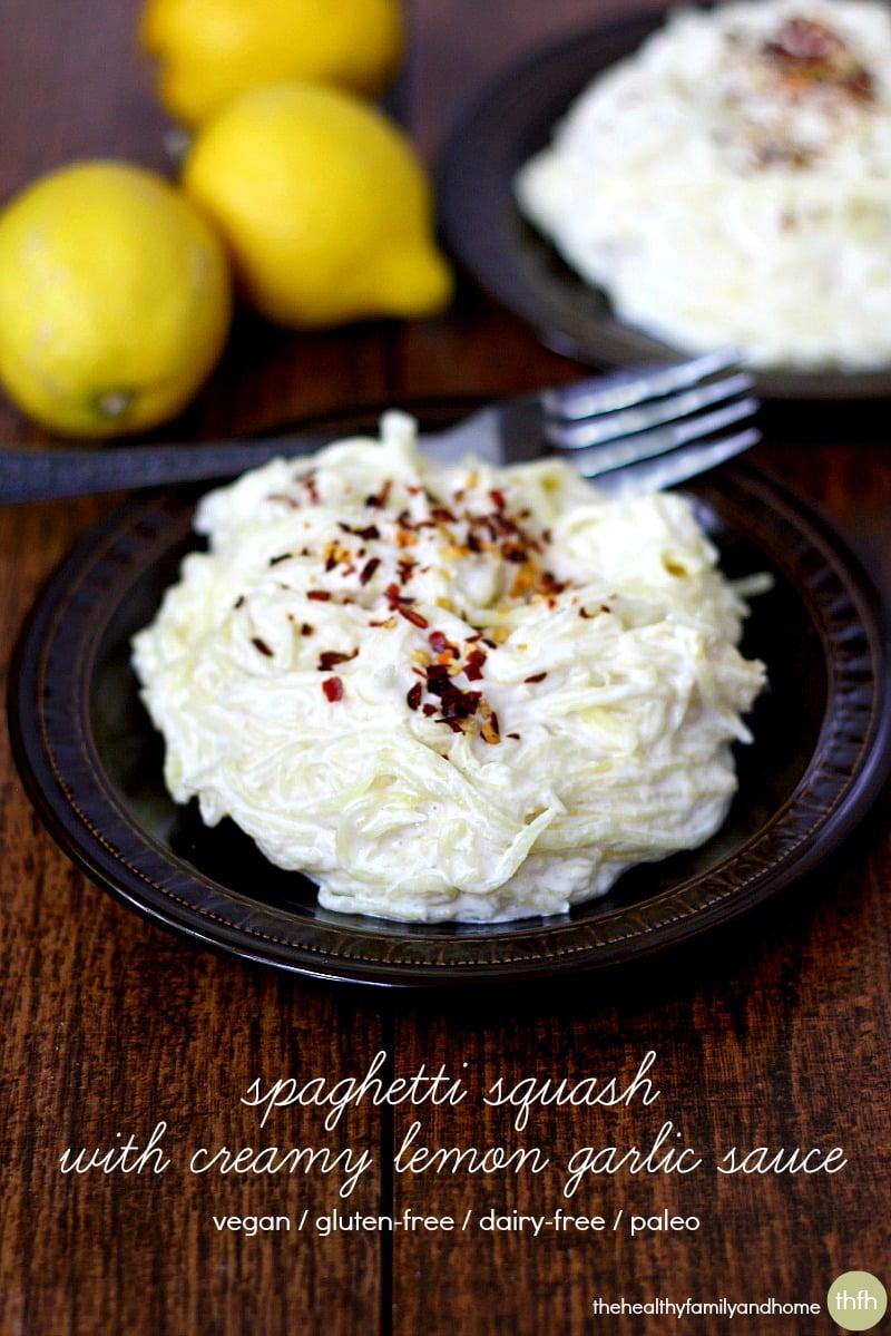 Spaghetti Squash With Lemon Garlic Sauce And Ricotta Recipes ...