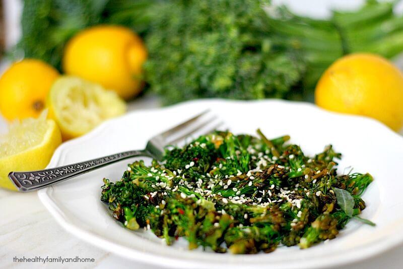 Spicy Lemon Sauteed Broccolini