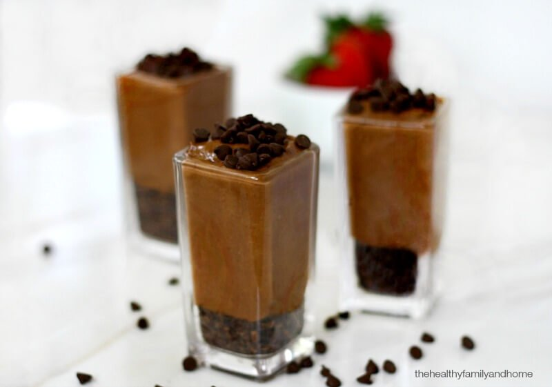 Chocolate Banana Cream Mini Desserts | The Healthy Family and Home