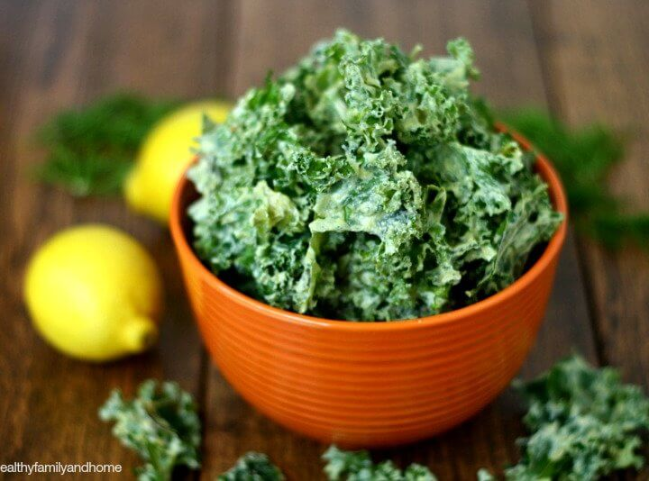 Lemon Dill Kale Chips | The Healthy Family and Home
