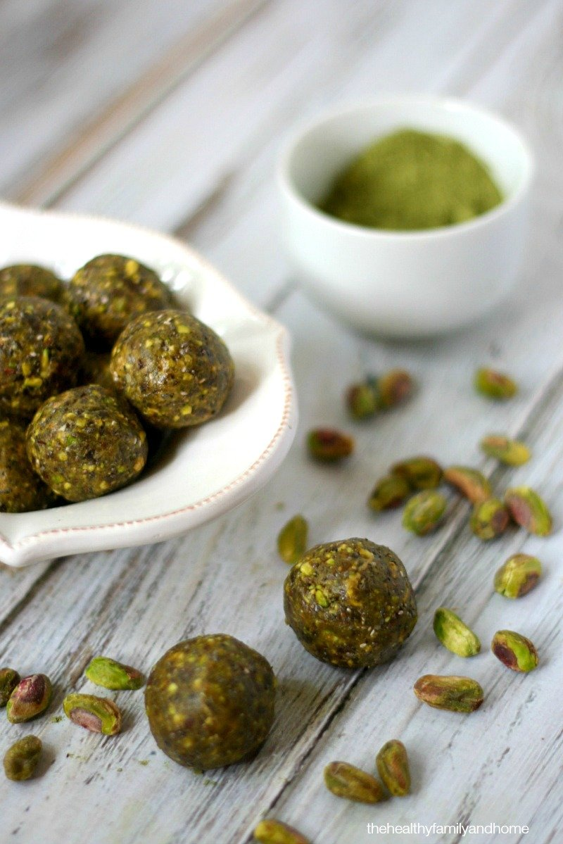 Pistachio and Matcha Truffles - Vegan, Gluten-Free, Dairy-Free, No-Bake, Paleo-Friendly and No Refined Sugar | The Healthy Family and Home