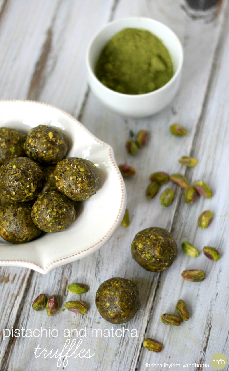 Pistachio and Matcha Truffles - Vegan, Gluten-Free, Dairy-Free, Paleo-Friendly and No Refined Sugar | The Healthy Family and Home