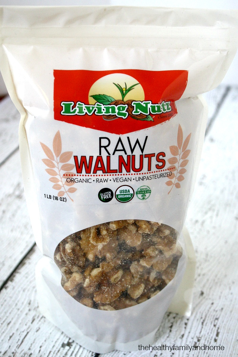 Living Nutz Raw Organic Walnuts - The Green Polka Dot Box Review | The Healthy Family and Home