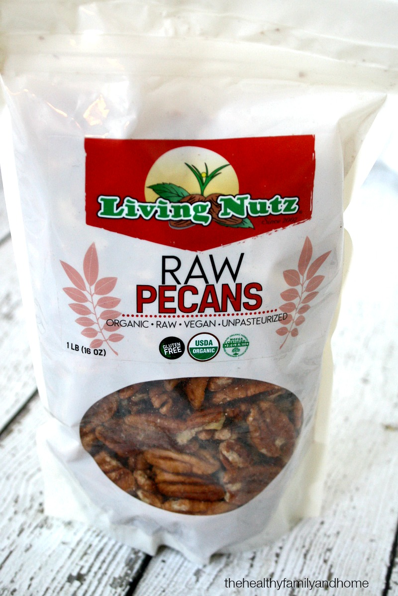 Living Nutz Raw Organic Pecan Halves - The Green Polka Dot Box Review | The Healthy Family and Home