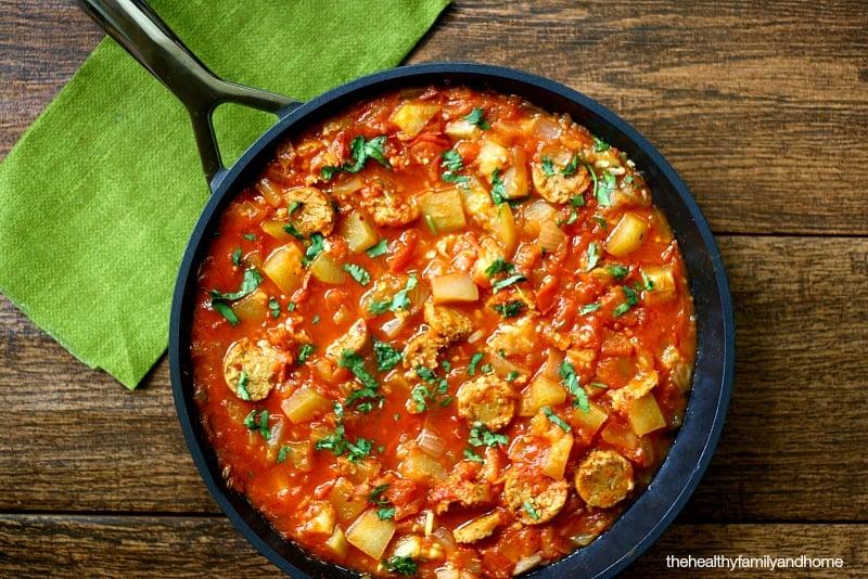 Italian-Cucuzza-Squash-Stew-with-Vegan-Sausage