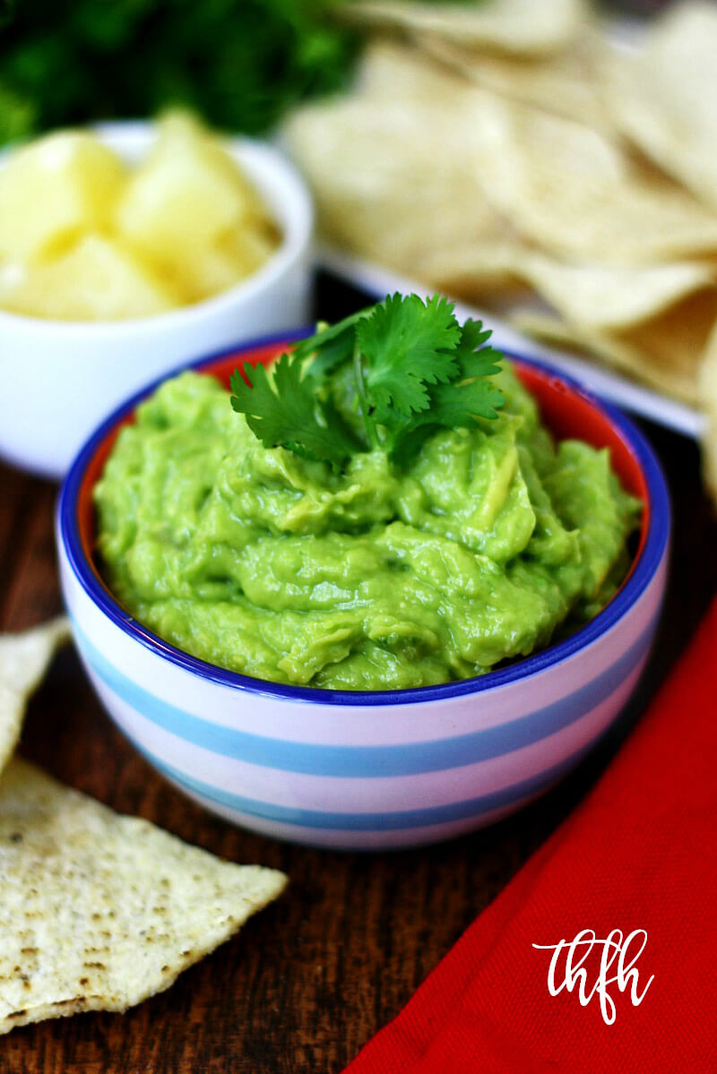 Clean Eating Vegan Pineapple Guacamole | The Healthy Family and Home