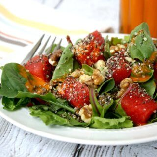 Watermelon Salad with Clean Eating Watermelon Vinaigrette   The Healthy Family and Home