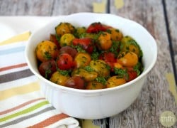 Cherry Tomatoes with Spinach Pesto - Raw, Vegan, Gluten-Free, Dairy-Free, Paleo-Friendly | The Healthy Family and Home