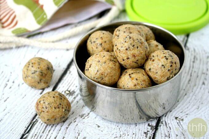 Crispy Cashew Butter Energy Balls (Vegan, Gluten-Free, Dairy-Free, No Refined Sugar)