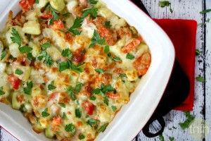 Spicy Italian Cucuzza Squash Bake (Vegetarian)