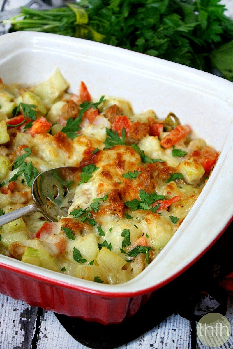 Spicy Italian Cucuzza Squash Bake - Vegetarian, Gluten-Free | The Healthy Family and Home