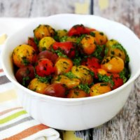 Clean Eating Cherry Tomatoes with Spinach Pesto   The Healthy Family and Home