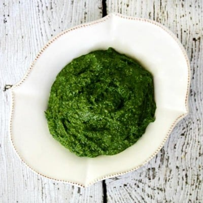Clean Eating Vegan Spinach Pesto   The Healthy Family and Home