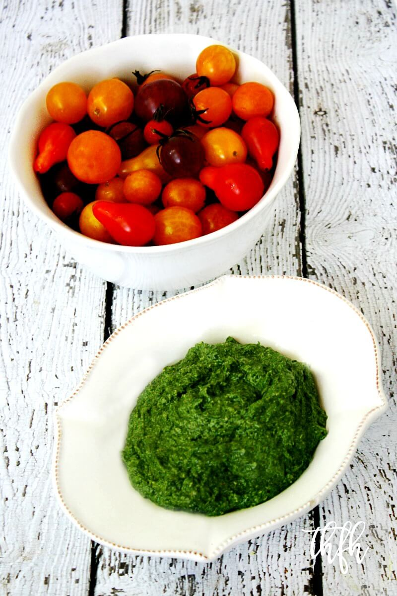 Clean Eating Vegan Spinach Pesto | The Healthy Family and Home