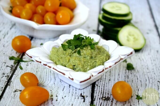 Field of Greens Zucchini Hummus (Raw, Vegan, Gluten-Free, Dairy-Free, Paleo-Friendly)
