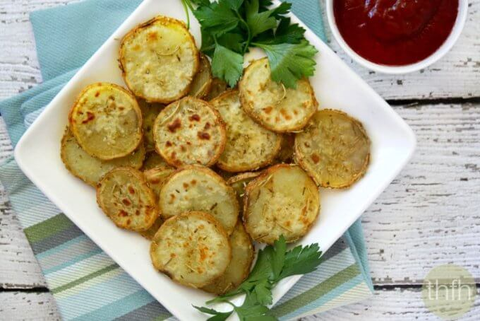 Rosemary and Garlic Sweet Potato Medallions (Vegan, Gluten-Free, Dairy-Free, Paleo-Friendly)