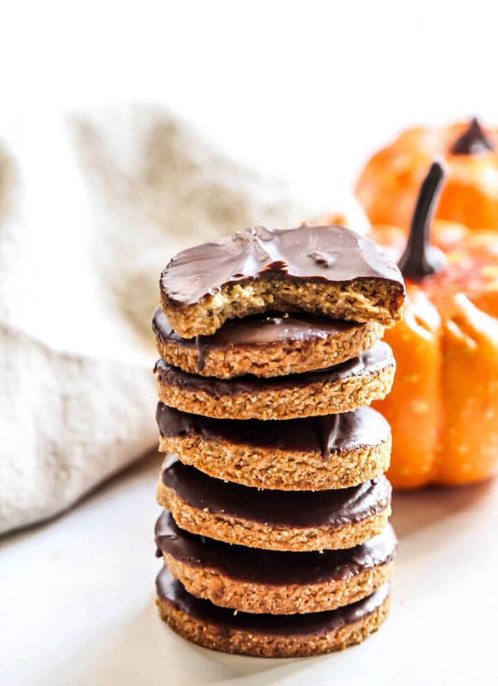 Chocolate Frosted Gluten-Free Pumpkin Cookies