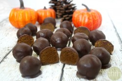 "Clean Eating Pumpkin Truffles - Vegan, Gluten-Free, Dairy-Free, Paleo-Friendly, No Refined Sugar | The Healthy Family and Home ""Simple Recipes. Real Food. Clean Ingredients."""