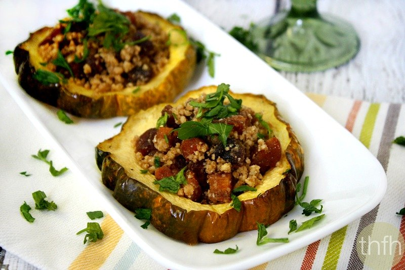Acorn Squash Rings with Walnut and Dried Apricots - Vegan, Gluten-Free, Dairy-Free, Paleo-Friendly, No Refined Sugar | The Healthy Family and Home