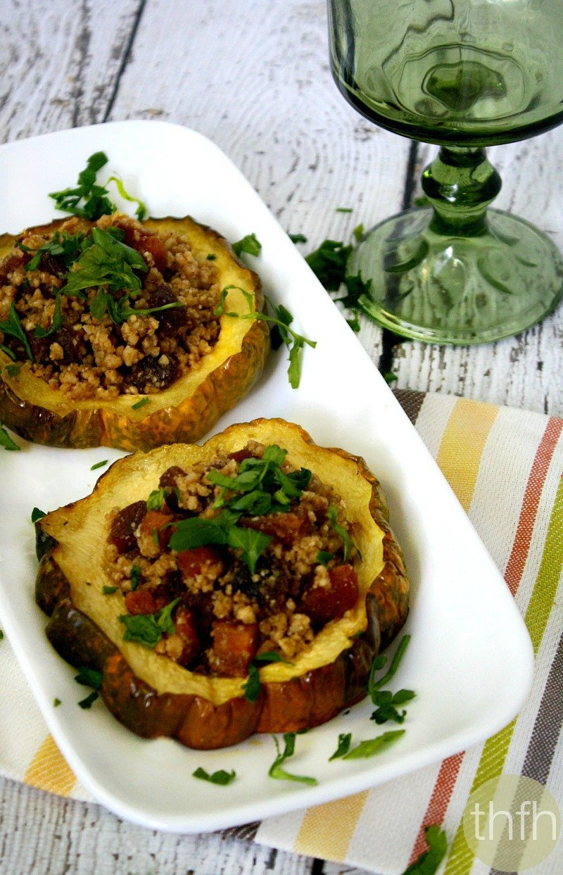 Acorn Squash Rings with Walnuts and Dried Apricots - Vegan, Gluten-Free, Dairy-Free, Paleo-Friendly, No Refined Sugar