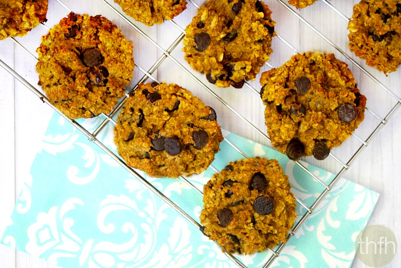 Gluten-Free Chocolate Chip Pumpkin Oatmeal Cookies - Vegan, Gluten-Free, Dairy-Free, No Refined Sugars | The Healthy Family and Home