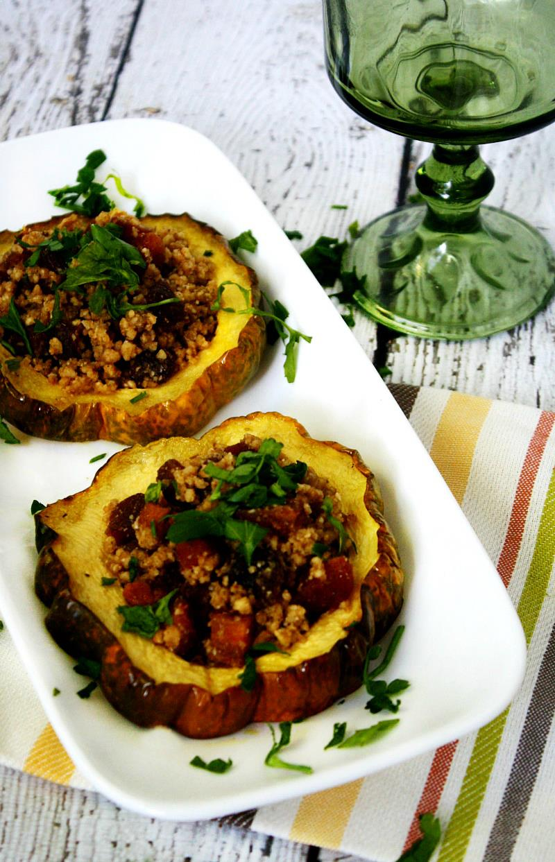 Acorn Squash Rings with Walnuts and Dried Apricots | The Healthy Family and Home