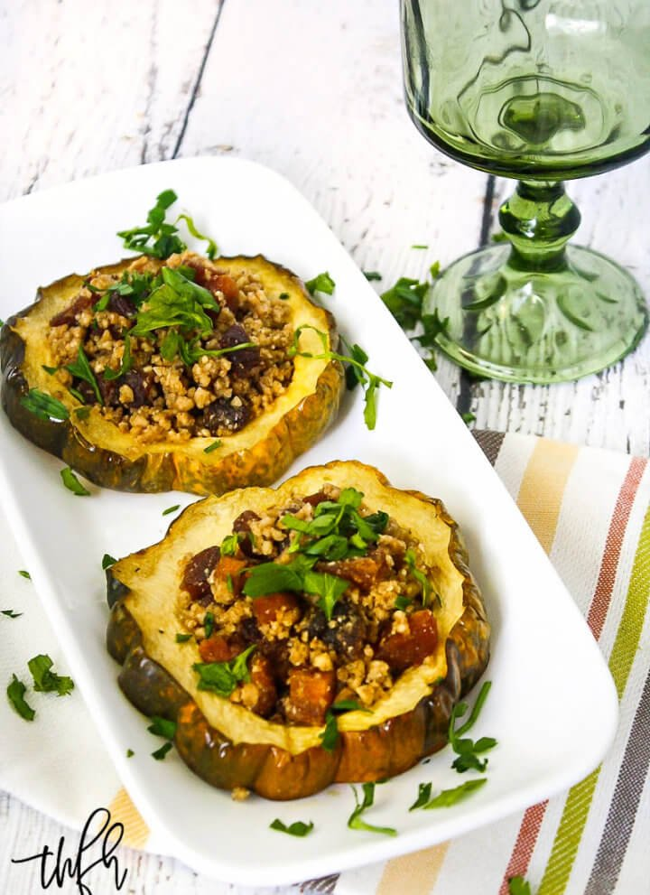 Acorn Squash Rings with Walnuts and Dried Apricots