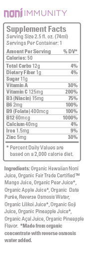 Hawaiian Ola Noni Immunity Ingredient List and Review | The Healthy Family and Home