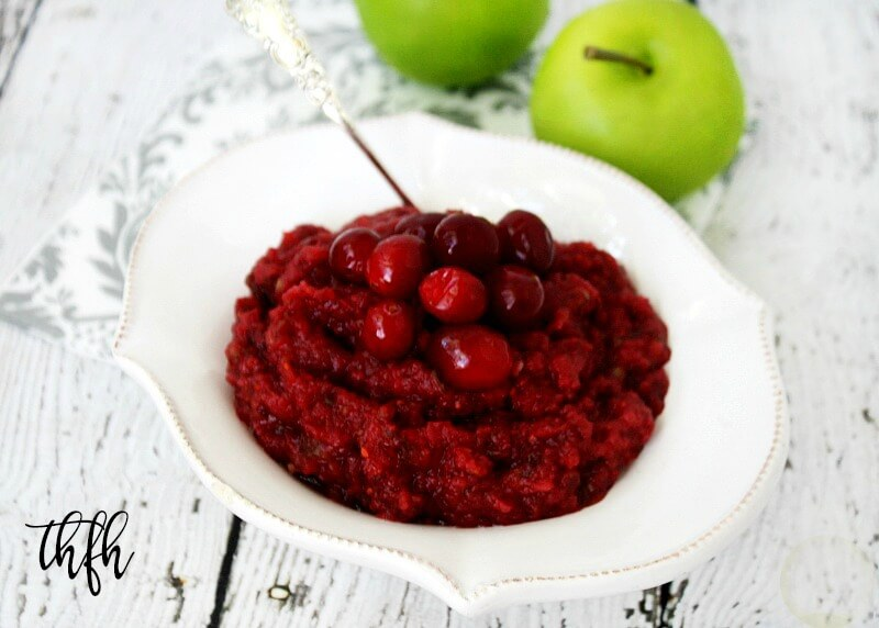 Clean Eating Raw Vegan Cranberry Sauce | The Healthy Family and Home