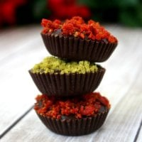 Dark Chocolate Cups with Pistachios and Goji Berries | Raw, Vegan, Gluten-Free, Dairy-Free, Paleo-Friendly, No Refined Sugars | The Healthy Family and Home