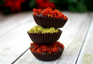 Dark Chocolate Cups with Pistachios and Goji Berries (Raw, Vegan, Gluten-Free, Dairy-Free, Paleo-Friendly, No Refined Sugars)
