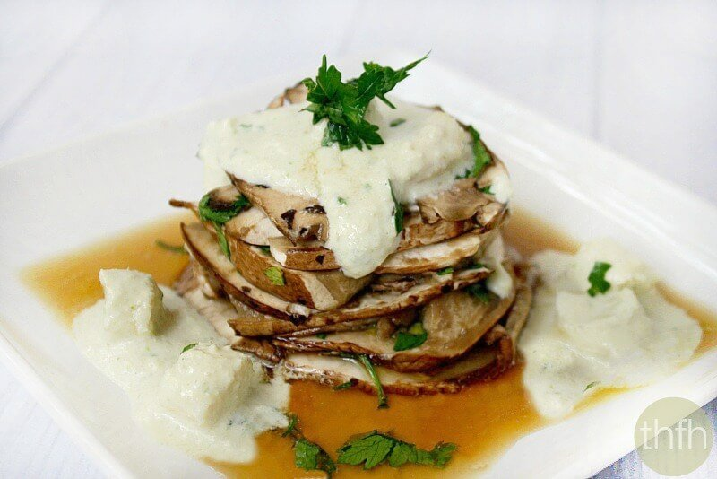Portobello Mushroom Pave' with White Asparagus Vinaigrette