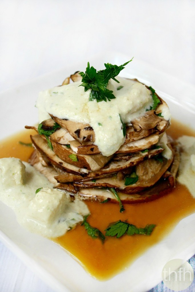 Portabella Mushroom Pave with White Asparagus Vinaigrette - Raw, Vegan, Gluten-Free, Dairy-Free, Paleo-Friendly | The Healthy Family and Home