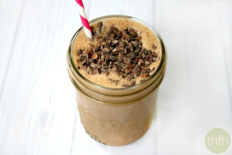 Clean Eating Chocolate Peanut Butter Protein Smoothie - Vegan, Gluten-Free, Dairy-Free, No Refined Sugars | The Healthy Family and Home