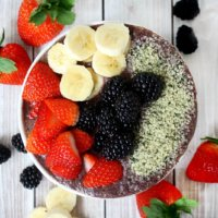 Blueberry Acai Protein Smoothie Bowl | The Healthy Family and Home