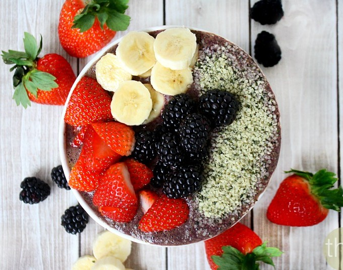 Blueberry Acai Protein Smoothie Bowl