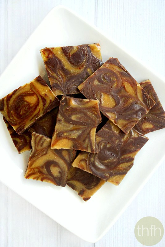 Chocolate Peanut Butter Swirl Bark | The Healthy Family and Home
