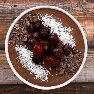 Dark Cherry and Acai Berry Smoothie Bowl | The Healthy Family and Home