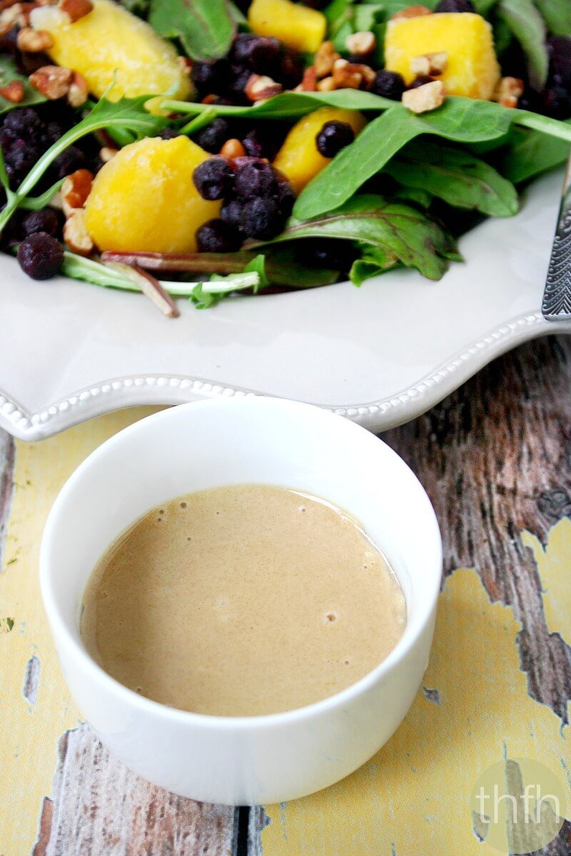 Clean Eating Vegan Tahini Ginger Dressing | The Healthy Family and Home