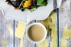 Tahini Ginger Dressing (Raw, Vegan, Gluten-Free, Dairy-Free, Paleo-Friendly, No Refined Sugar)