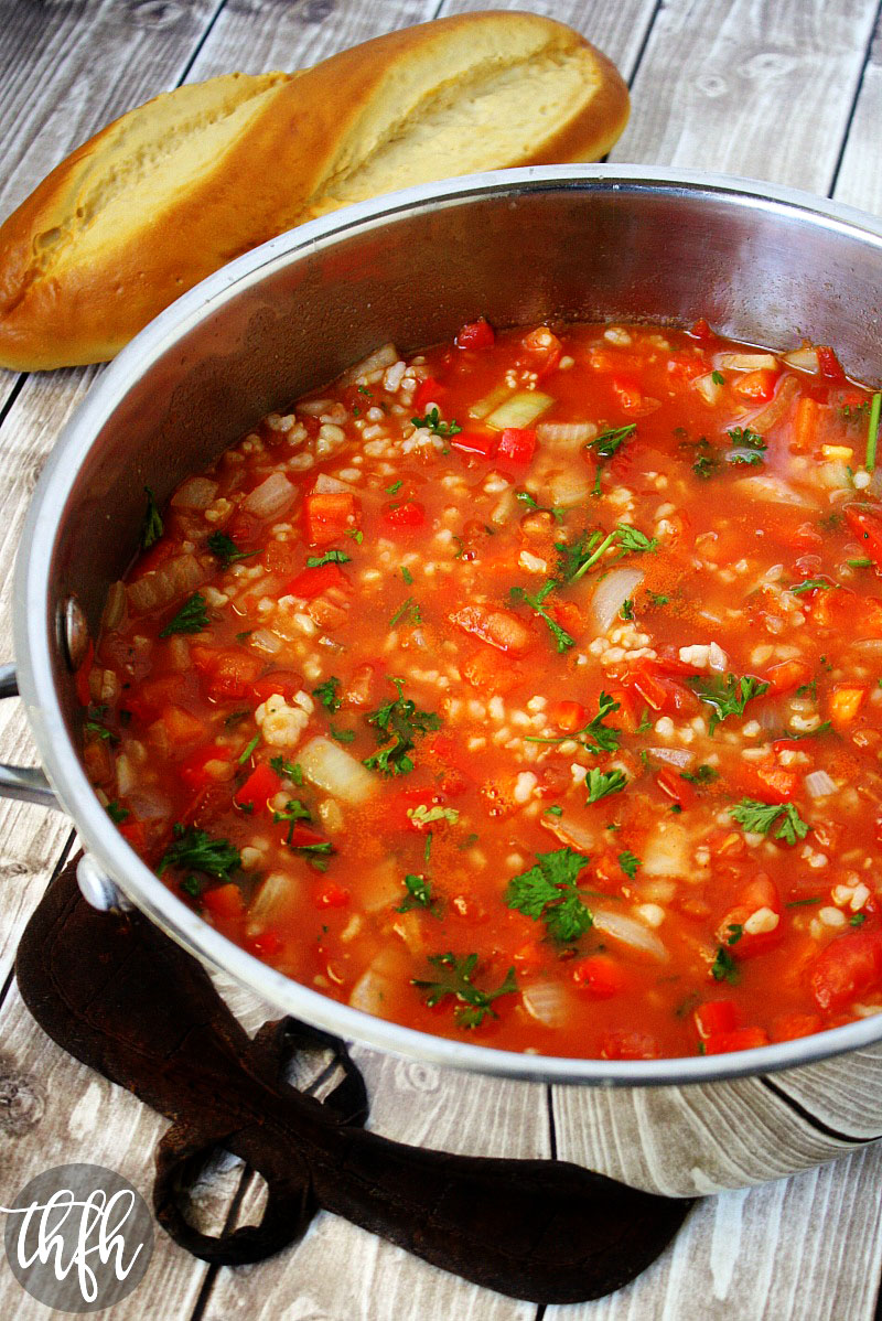 Vegan Stuffed Pepper Soup | The Healthy Family and Home