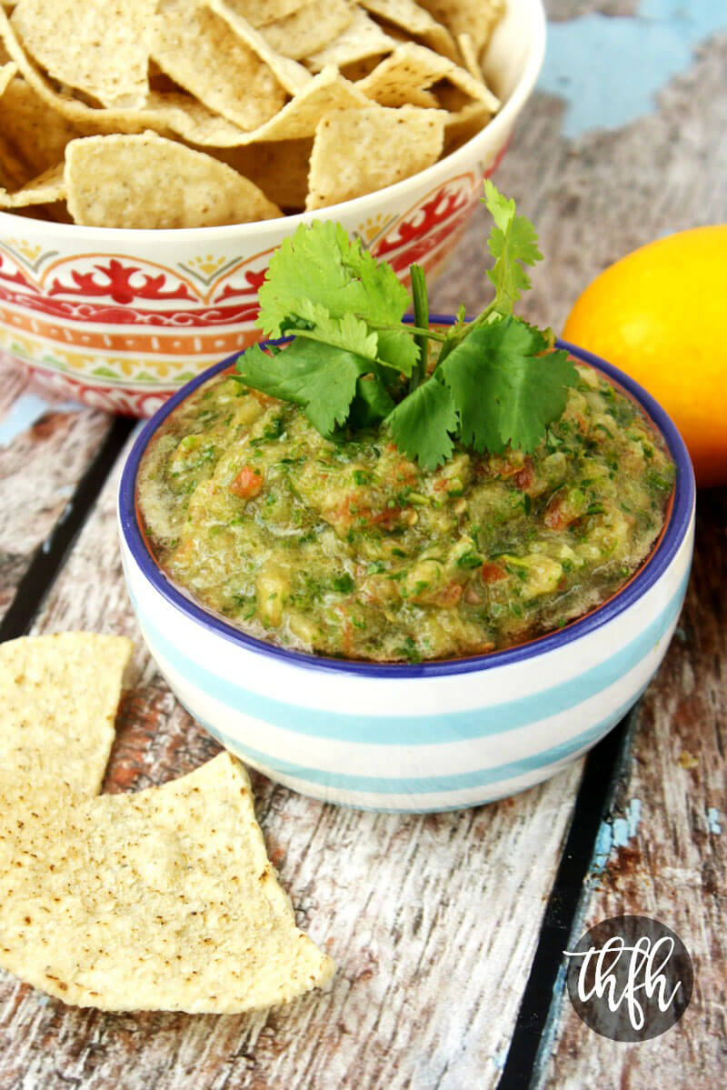 Gluten-Free Vegan Cilantro Lime Salsa | The Healthy Family and Home