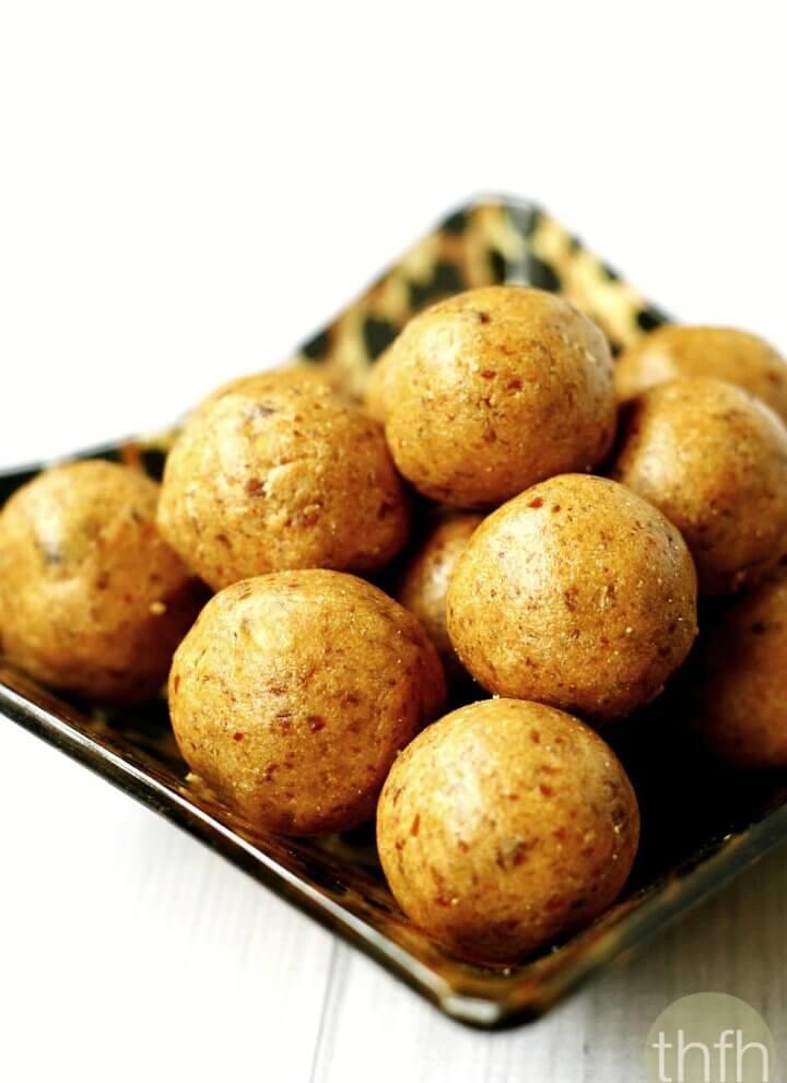 Vanilla Bean Peanut Butter Protein Balls