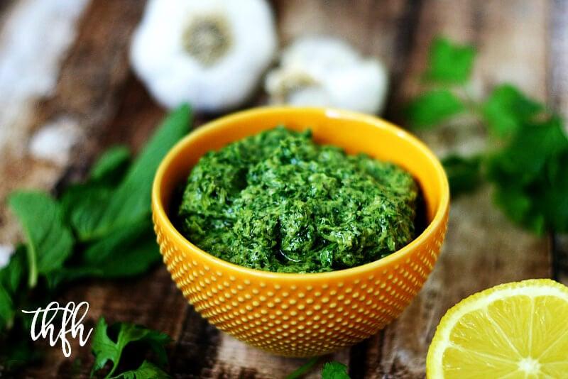 Vegan Fresh Herb and Tahini Pesto | The Healthy Family and Home