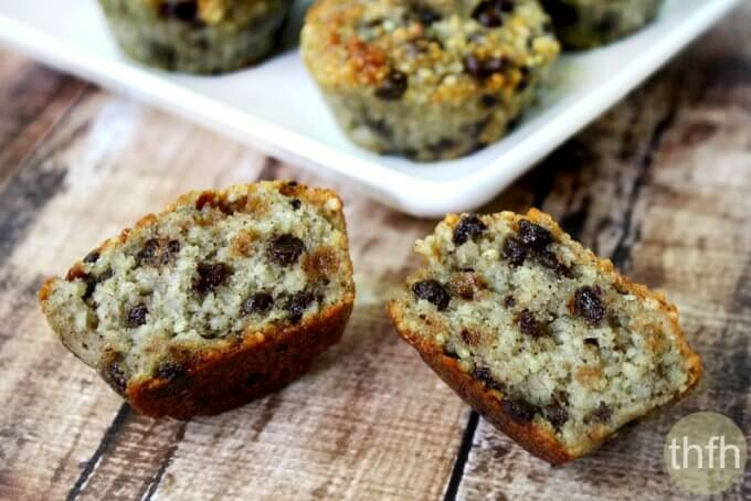 Gluten-Free Vegan Chocolate Chip Banana Muffins (Vegan, Gluten-Free, Dairy-Free, Egg-Free, Paleo-Friendly, No Refined Sugar)