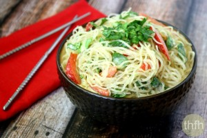 Kelp Noodles with Spicy Peanut Sauce (Vegan, Gluten-Free, Dairy-Free, No Refined Sugar)