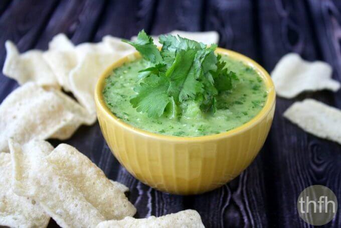 Tomatillo and Jalapeno Dip (Raw, Vegan, Gluten-Free, Dairy-Free, Paleo-Friendly)