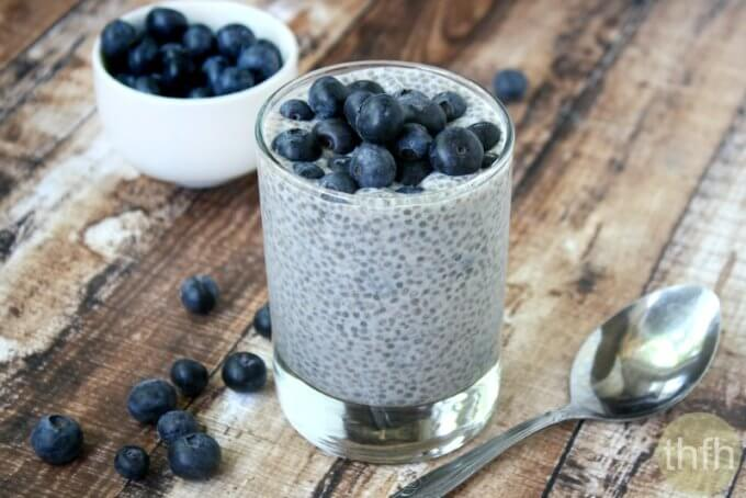 Vanilla Bean and Blueberry Chia Pudding (Raw, Vegan, Gluten-Free, Dairy-Free, Paleo-Friendly, No Refined Sugar)