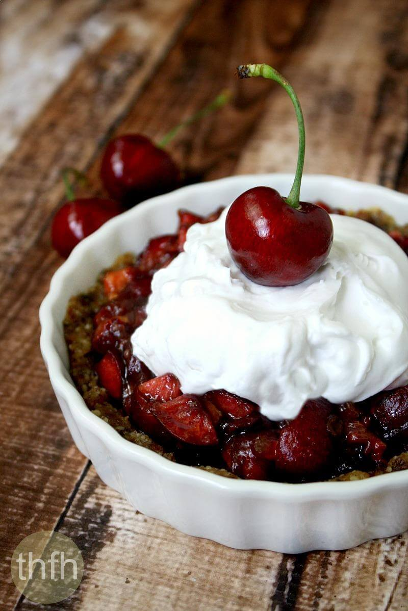 Clean Eating Vegan Cherry Tart | The Healthy Family and Home