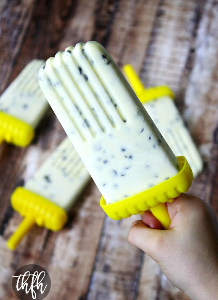 Creamy Mango and Chocolate Chip Ice Cream Popsicles